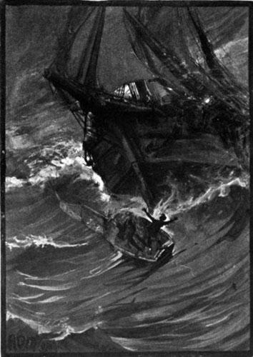 Các thủy thủ của một con tàu bị mắc kẹt ngoài đại dương.