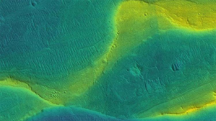 Bức ảnh mà nhóm nghiên cứu từ Đại học Chicago hé lộ vết tích những dòng sông