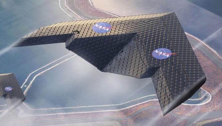 Hình ảnh mô hình thiết kế loại cánh máy bay của MIT và NASA