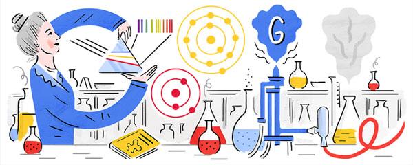 Hình ảnh thiết kế Doodle trên Google ngày 5/4/2019