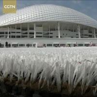 Mặt sân bóng làm từ 50.000 cốc nhựa tái chế ở Nga