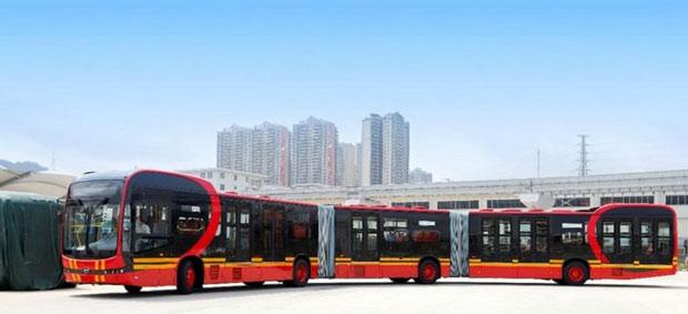 Mẫu xe buýt điện dài nhất thế giới có khả năng chở được tối đa 250 khách/chuyến