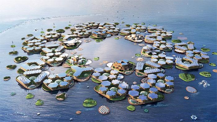 Người dân sống ở Oceanix City sẽ tự cung tự cấp.