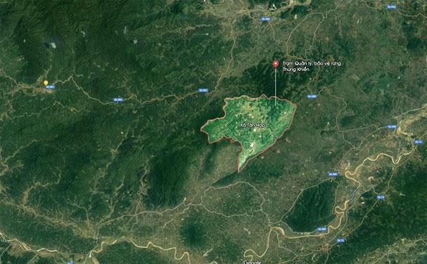 Rừng Thung Khiển, nơi phát hiện nhiều loại sâm mới ở Tân Kỳ.