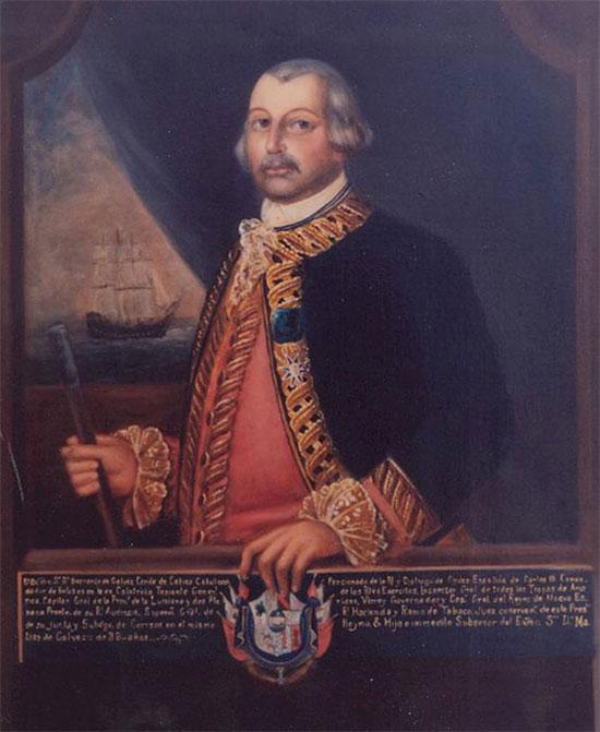 Bức tranh Bernardo de Galvez