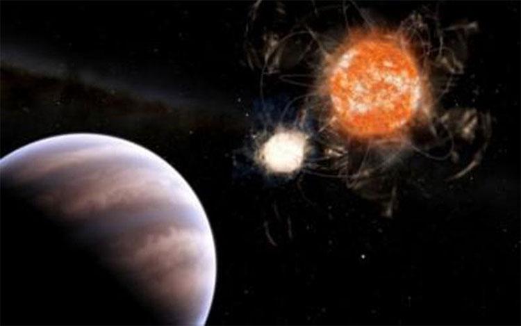 Siêu hành tinh quay quanh 2 ngôi sao mẹ nhưng chỉ 1 trong 2 ngôi sao này là còn sống.