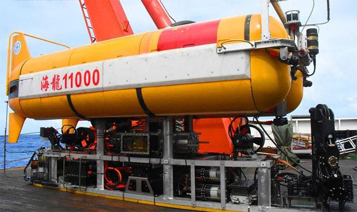 Tàu lặn không người lái mang tên Hailong 11000 của Trung Quốc.