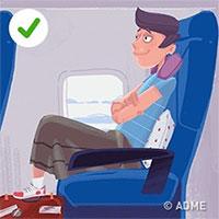 Hướng dẫn tư thế ngủ ngon trên tàu xe và máy bay