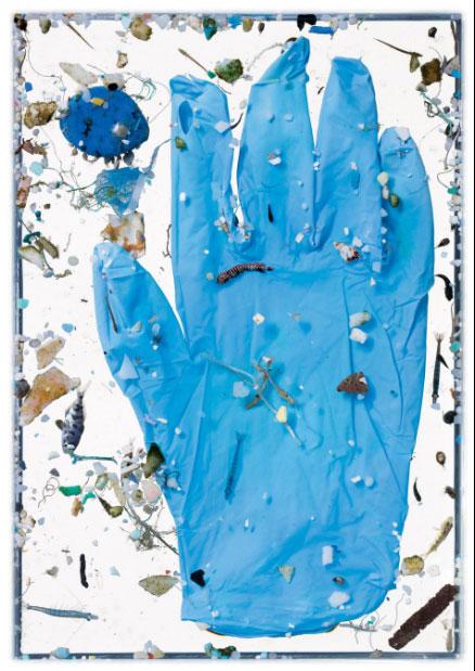 Chỉ một chiếc găng tay có thể chứa rất nhiều mảnh rác thải nhựa li ti