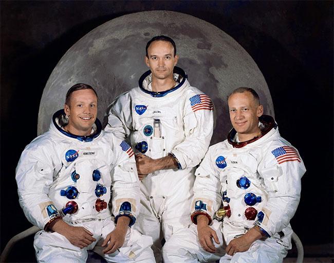 Phi hành gia Armstrong, Collins và Aldrin (từ trái qua).