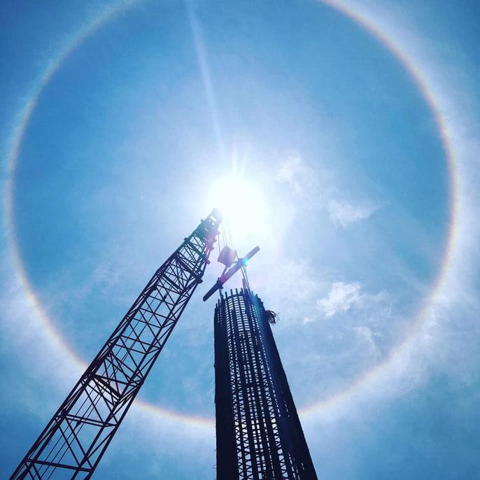 Hiện tượng vầng hào quang bao quanh mặt trời xuất hiện ở Quảng Nam ngày 26/4.