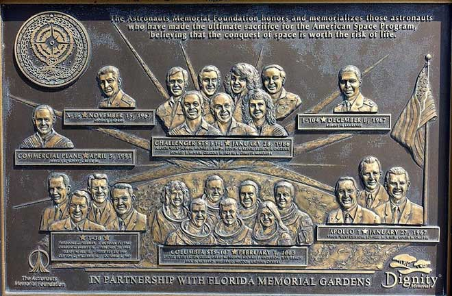 Đài tưởng niệm phi hành gia tại Cape Canaveral.