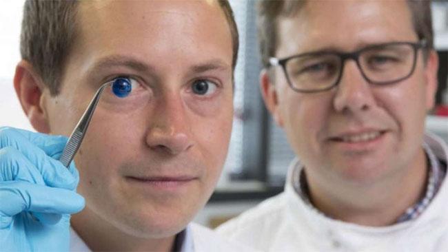 Với công nghệ in 3D, họ cho ra một kết cầu gần giống hệt với giác mạc của con người.