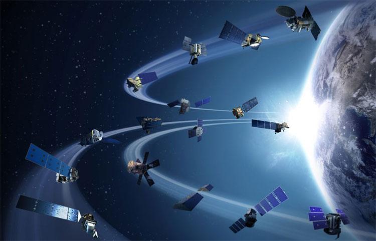 Hình minh họa mô tả hạm đội vệ tinh quan sát Trái đất của NASA. (Ảnh: NASA).