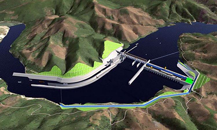 Đập thủy điện Pak Beng xây dựng trên dòng Mekong.