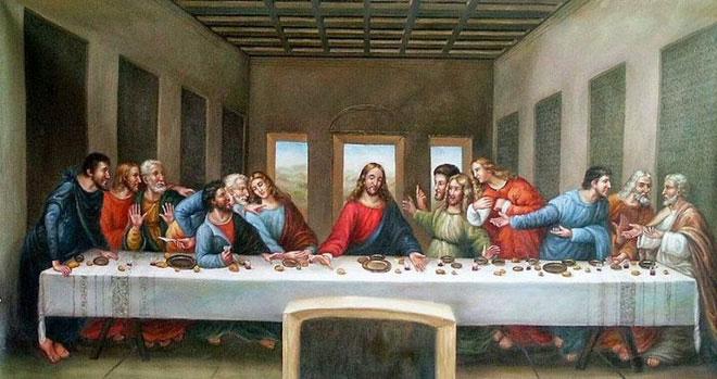 """Bức họa """"Bữa tiệc ly cuối cùng"""" của Da Vinci."""