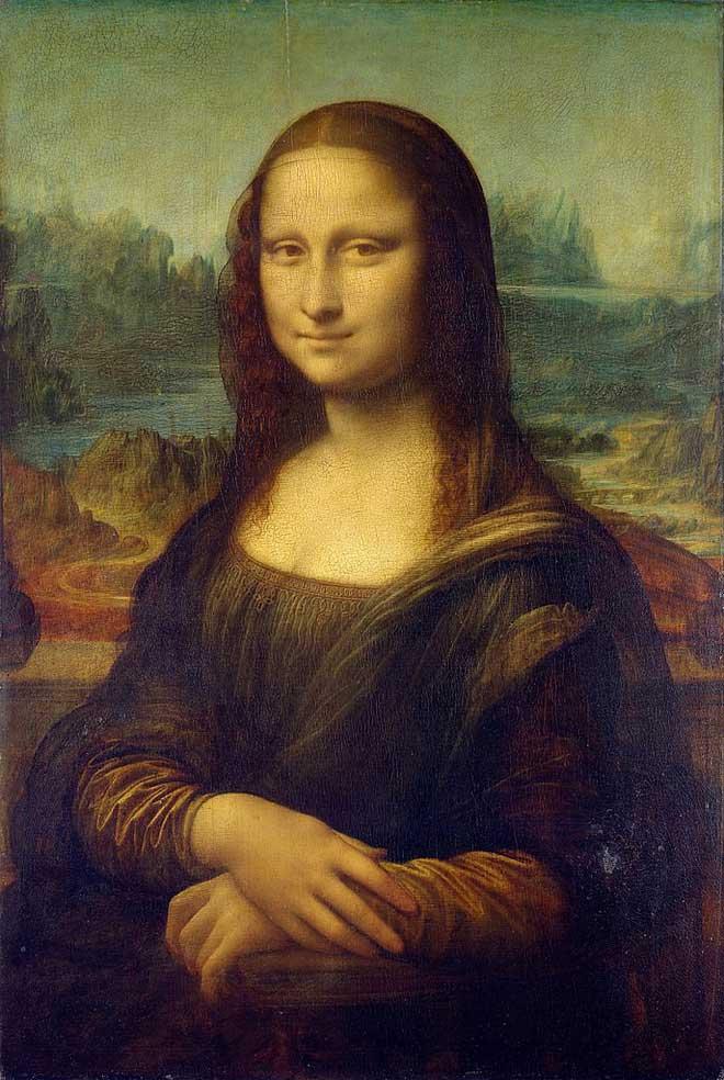 """Bức họa """"Mona Lisa"""" (vẽ từ năm 1503 đến năm 1506) của Da Vinci."""