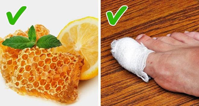 Nước cốt chanh và mật ong