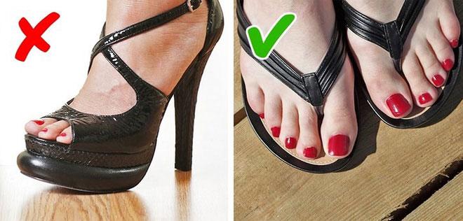 Mang giày dép thoải mái