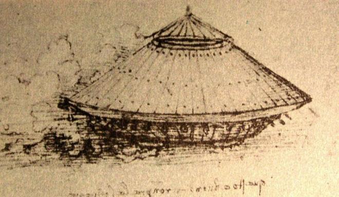 """Nguyên mẫu """"xe tăng"""" từ cuối thế kỷ 15 hoặc 16 của Da Vinci."""