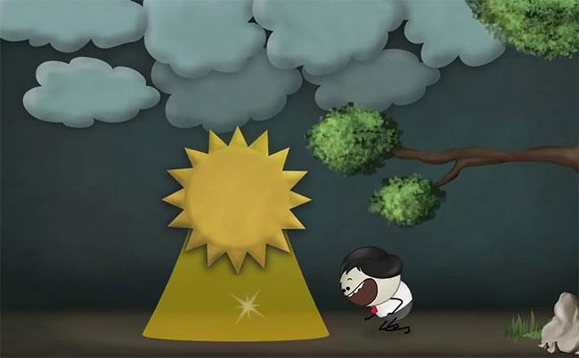 Đám mây hoạt động giống như một tấm chắn ngăn nhiệt thoát ra ngoài không gian.