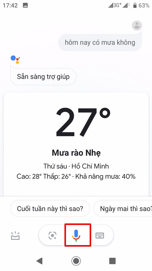 Instructions for using Google Assistant Vietnamese