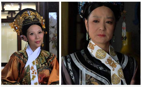 Những chiếc Long Hoa cao quý và độc đáo của Hoàng hậu (phải) và Thái hậu trong hậu cung nhà Thanh
