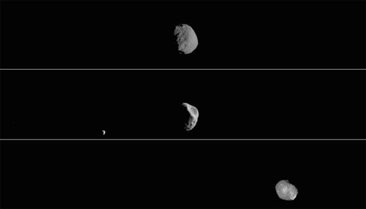 Mặt trăng Phobos được quan sát trong ánh sáng nhìn thấy được từ tàu vũ trụ Odyssey của NASA