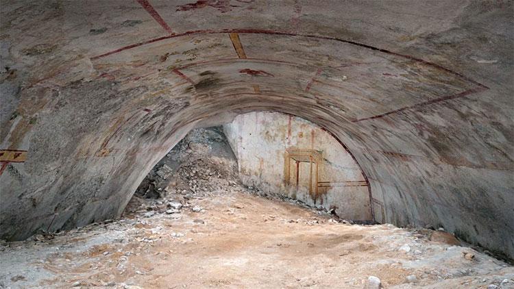 Khu vực phát hiện ra căn phòng bí ẩn của bạo chúa Nero.