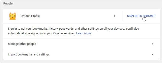 ên dưới là tùy chọn Sign in to Chrome/Đăng nhập vào Chrome.