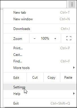 Nhấn nút giống như 3 dấu chấm dọc hoặc 3 thanh ngang chồng lên nhau, sau đó chọn settings/cài đặt