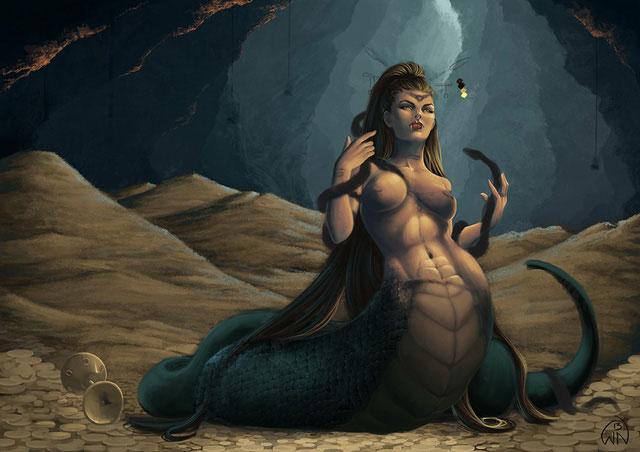 Lamia thường lợi dụng sắc đẹp để quyến rũ đàn ông và sau đó nuốt chửng họ.