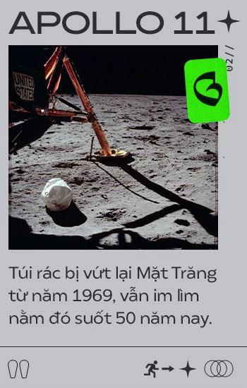 Túi rác bị vứt trên Mặt trăng