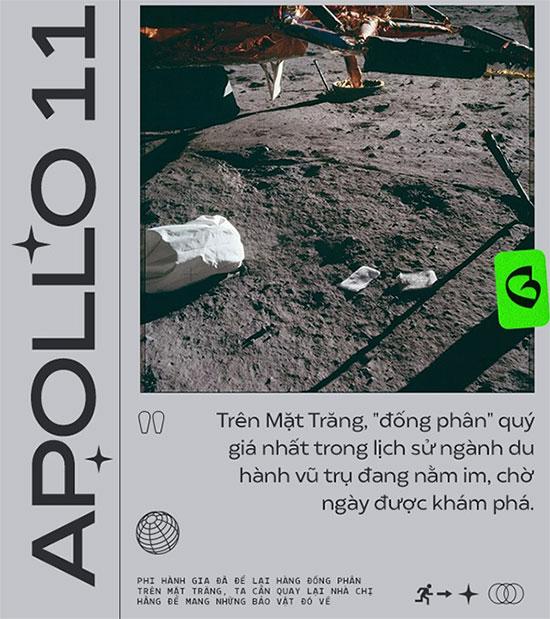 Trên Mặt trăng, đông phân phi hành gia để lại vẫn đang nằm im, chờ ngày được khám phá