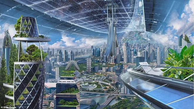 Bản thiết kế căn cứ tương lai của loài người trên vũ trụ.