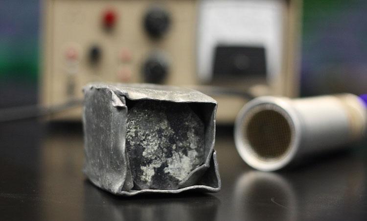 Khối urani của Đức Quốc xã được lưu giữ tại trường Đại học Harvard.