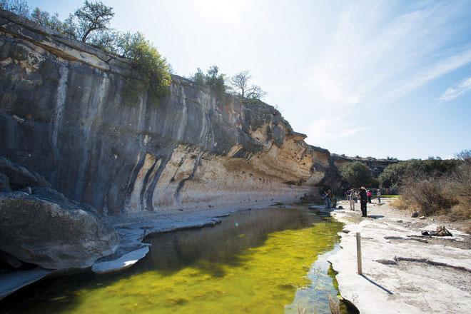 Khu vực hạ lưu sông Pecos.
