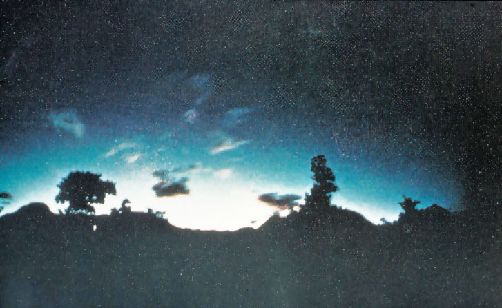Bức ảnh nổi tiếng nhất về ánh sáng động đất được chụp tại núi Kimyo, Nhật Bản năm 1968.
