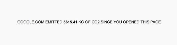 Google.com đã thải ra 5615,41 kg CO2 kể từ khi bạn bật trang web này lên.