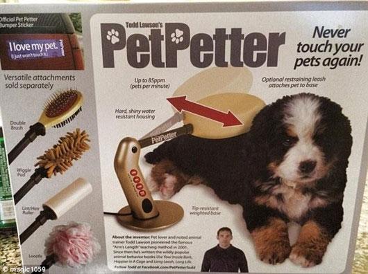 Nếu bạn nuôi thú cưng nhưng quá lười nựng chúng, sản phẩm này sẽ thay bạn làm việc ấy.