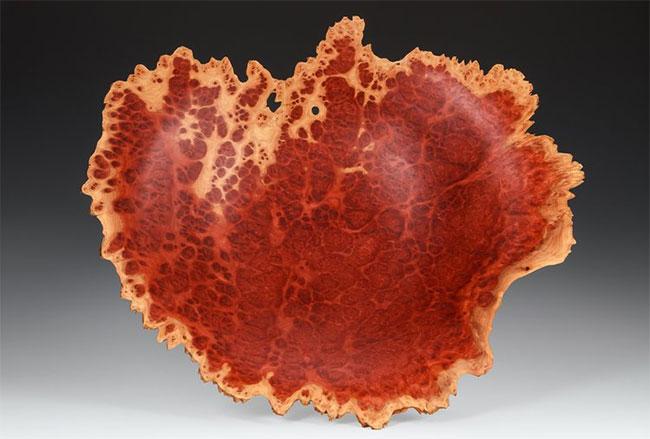 Hình ảnh vân gỗ rất đẹp cắt ra từ burl.