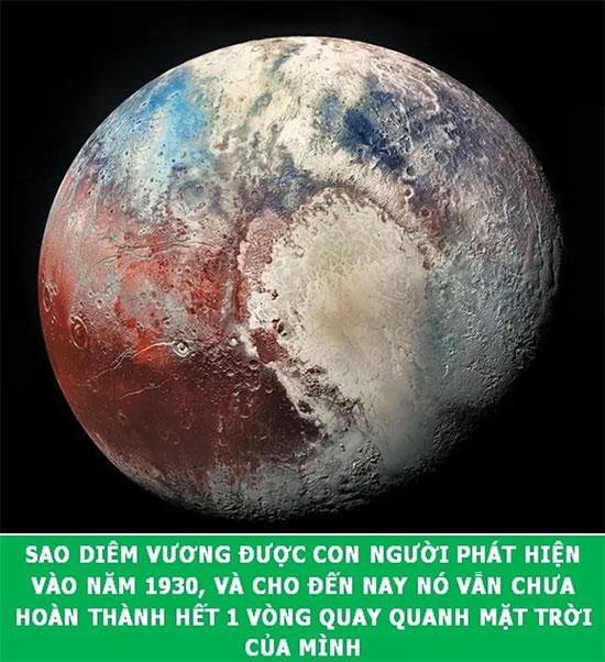Sao Diêm Vương mất đến 2177 năm để hoàn thành quỹ đạo quay quanh mặt trời.
