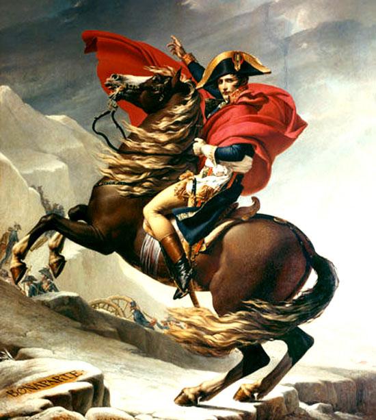 Họa phẩm thể hiện uy quyền của Napoleon.