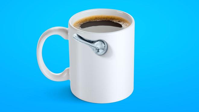 Cà phê có tác dụng kích thích nhu động ruột.