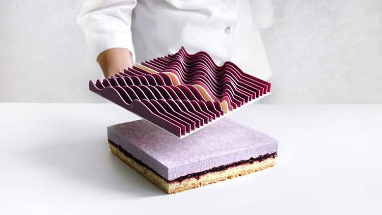 Một chiếc bánh kem được in 3D