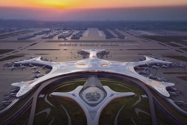 Thiết kế nhà ga thứ ba của sân bay Cáp Nhĩ Tân.