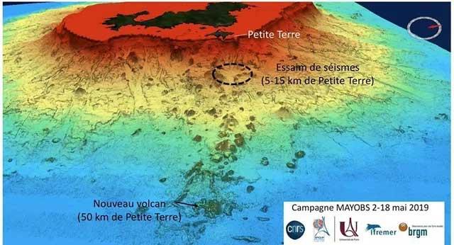 Vị trí ngọn núi lửa ngầm được các nhà nghiên cứu tiết lộ.