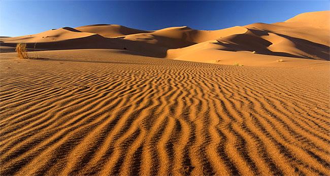 Cát sa mạc không được dùng trong xây dựng dù có nguồn cung cấp dồi dào.