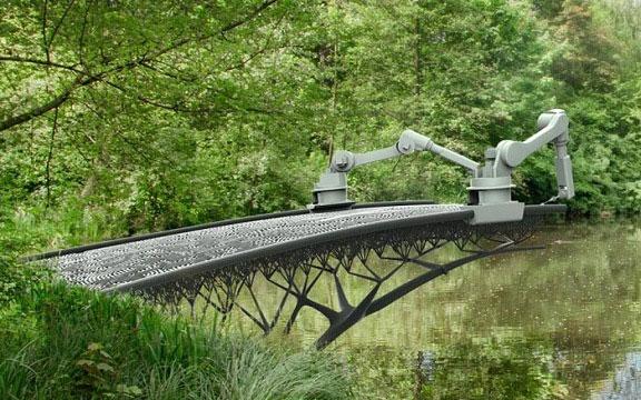 Xây dựng cầu bằng công nghệ in 3D.