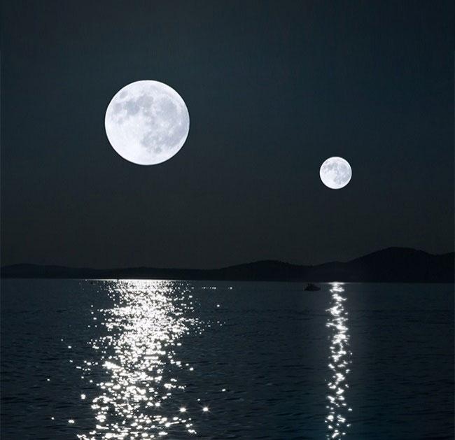 Các nhà thiên văn học chi biết Trái Đất từng có 2 mặt trăng cách đây 4,6 triệu năm.